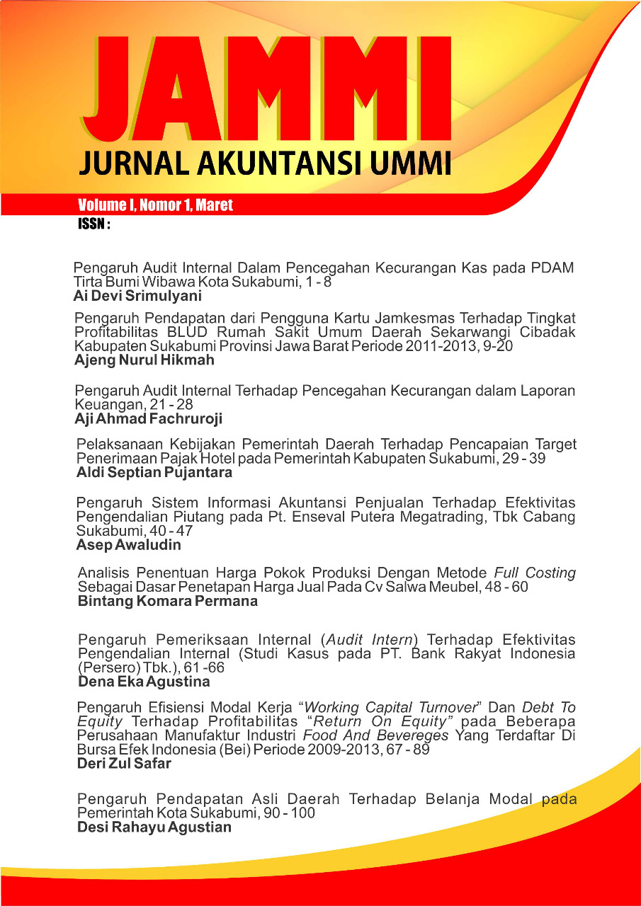 View Vol. 1 No. 1 (2020): Jurnal Akuntansi UMMI